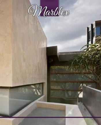 Außenwand Marblex - Microzement zur Modernisierung von Außenwänden